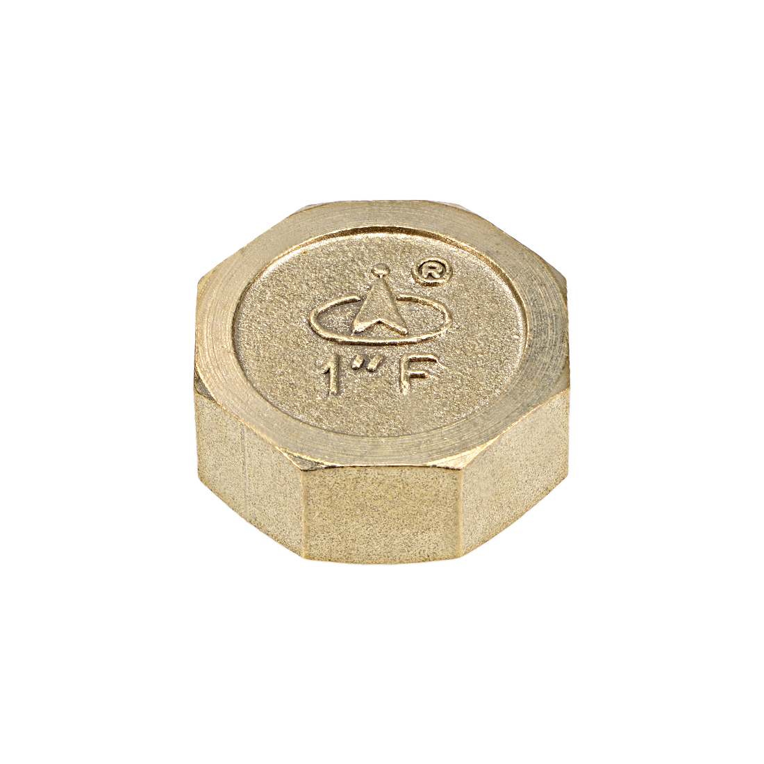 1-Inch Brass Cap PT1 Female Pipe Fitting Hex Compression Stop Valve Connector