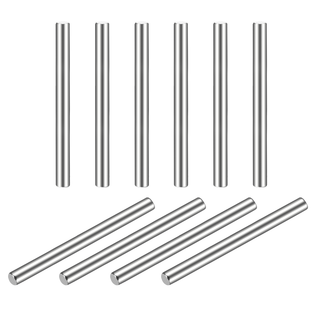 10Pcs 2mm x 25mm Dowel Pin 304 Stainless Steel Shelf Support Pin Fasten