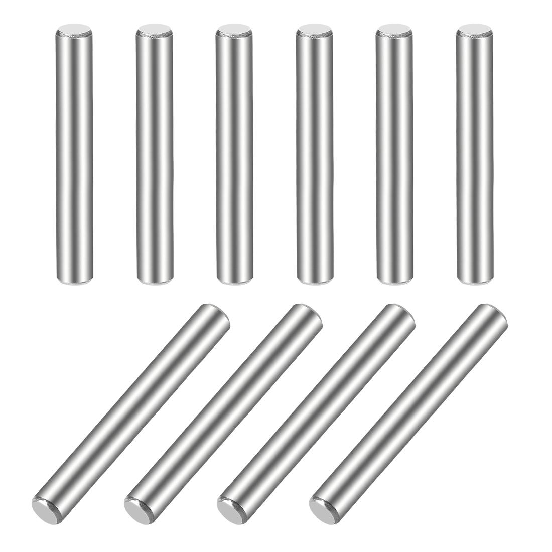 10Pcs 5mm x 50mm Dowel Pin 304 Stainless Steel Shelf Support Pin Fasten