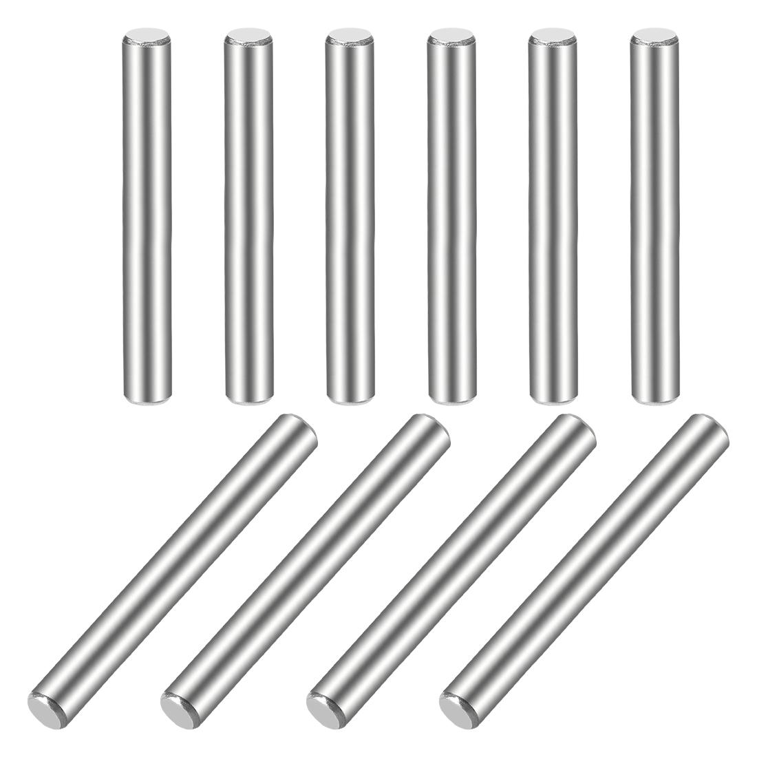10Pcs 5mm x 55mm Dowel Pin 304 Stainless Steel Shelf Support Pin Fasten