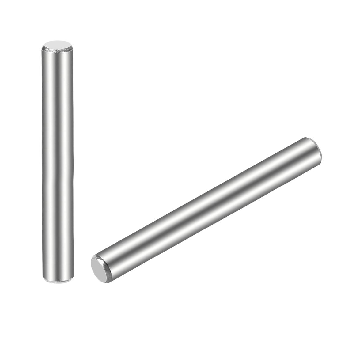 25Pcs 5mm x 55mm Dowel Pin 304 Stainless Steel Shelf Support Pin Fasten