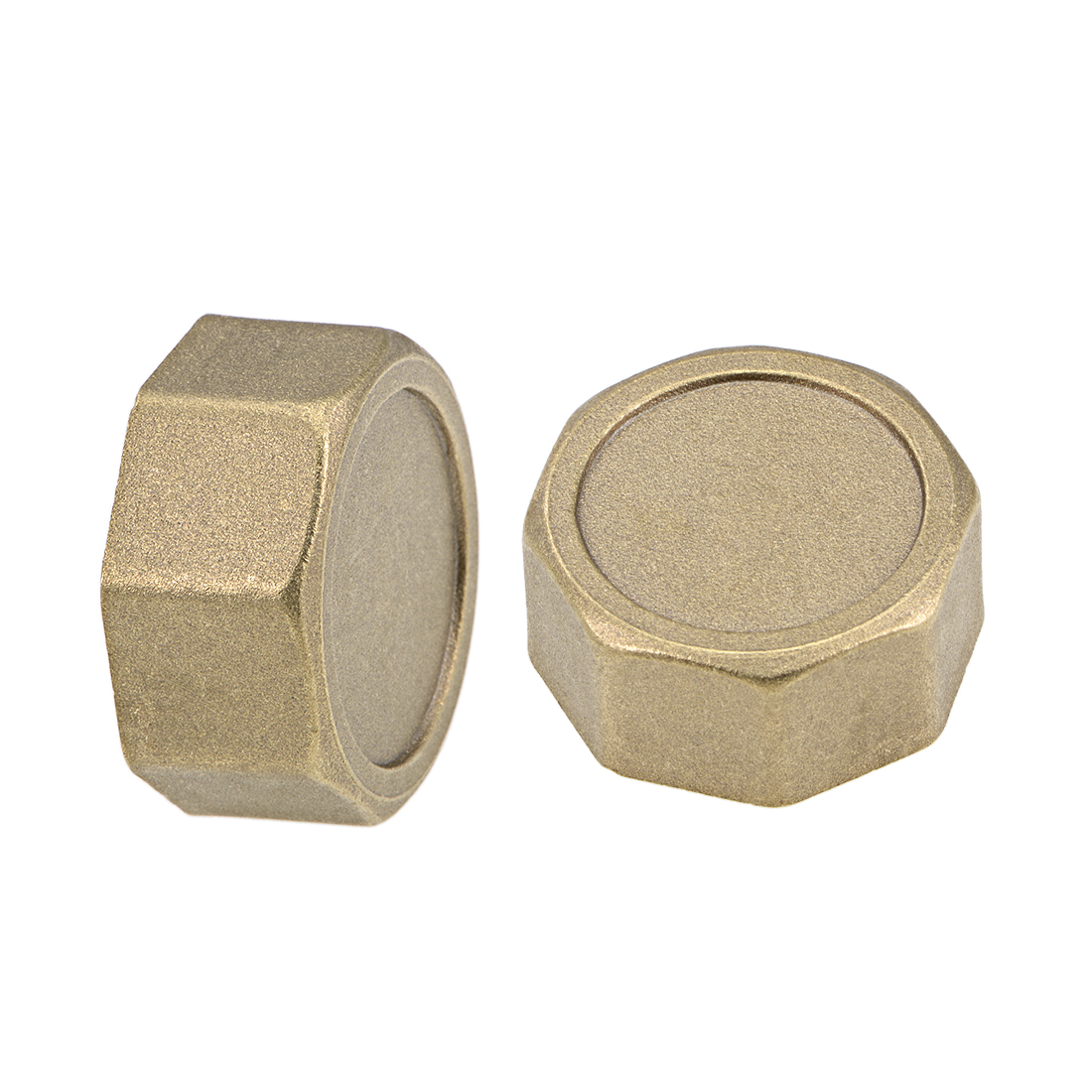 1-Inch Brass Cap 2pcs G1 Female Pipe Fitting Hex Stop Valve Connector