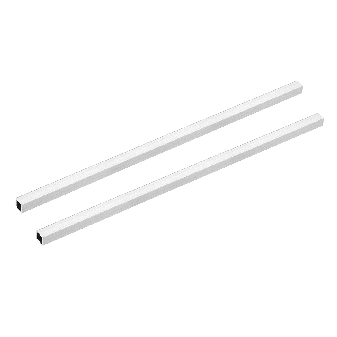 6063 Aluminum Square Tube 10mmx10mmx1mm Wall Thickness 300mm Length Tubing 2 Pcs