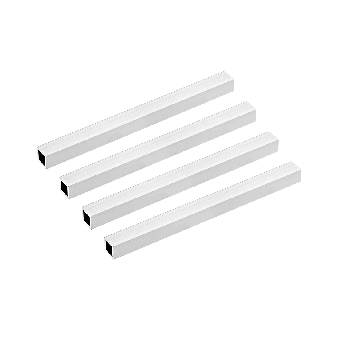 6063 Aluminum Square Tube 15mmx15mmx1mm Wall Thickness 200mm Length Tubing 4 Pcs