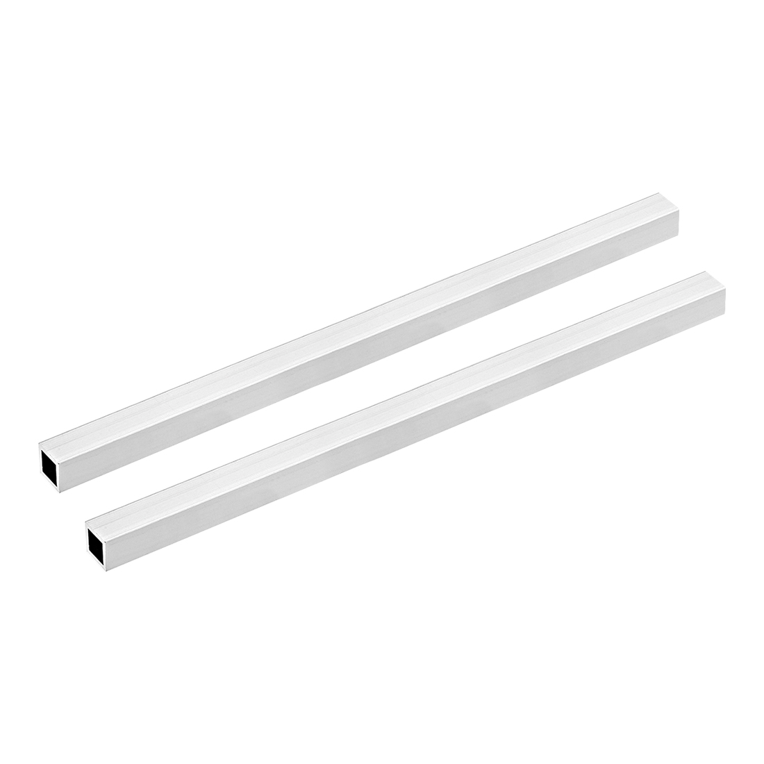 6063 Aluminum Square Tube 15mmx15mmx1.5mm Wall Thickness 300mm Long Tubing 2 Pcs