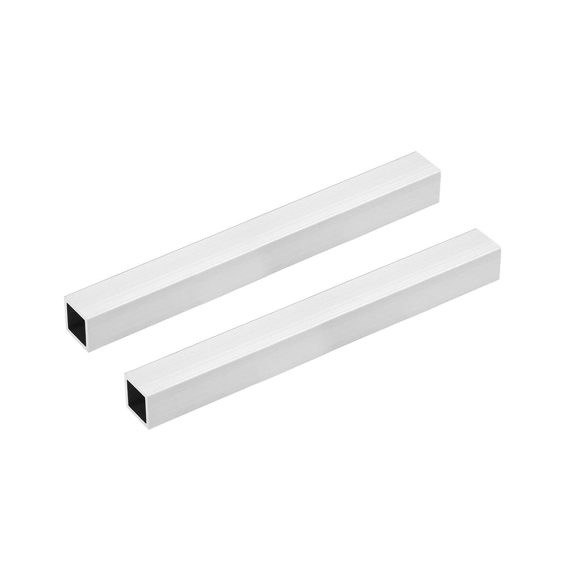 6063 Aluminum Square Tube 20mmx20mmx1.2mm Wall Thickness 200mm Long Tubing 2 Pcs