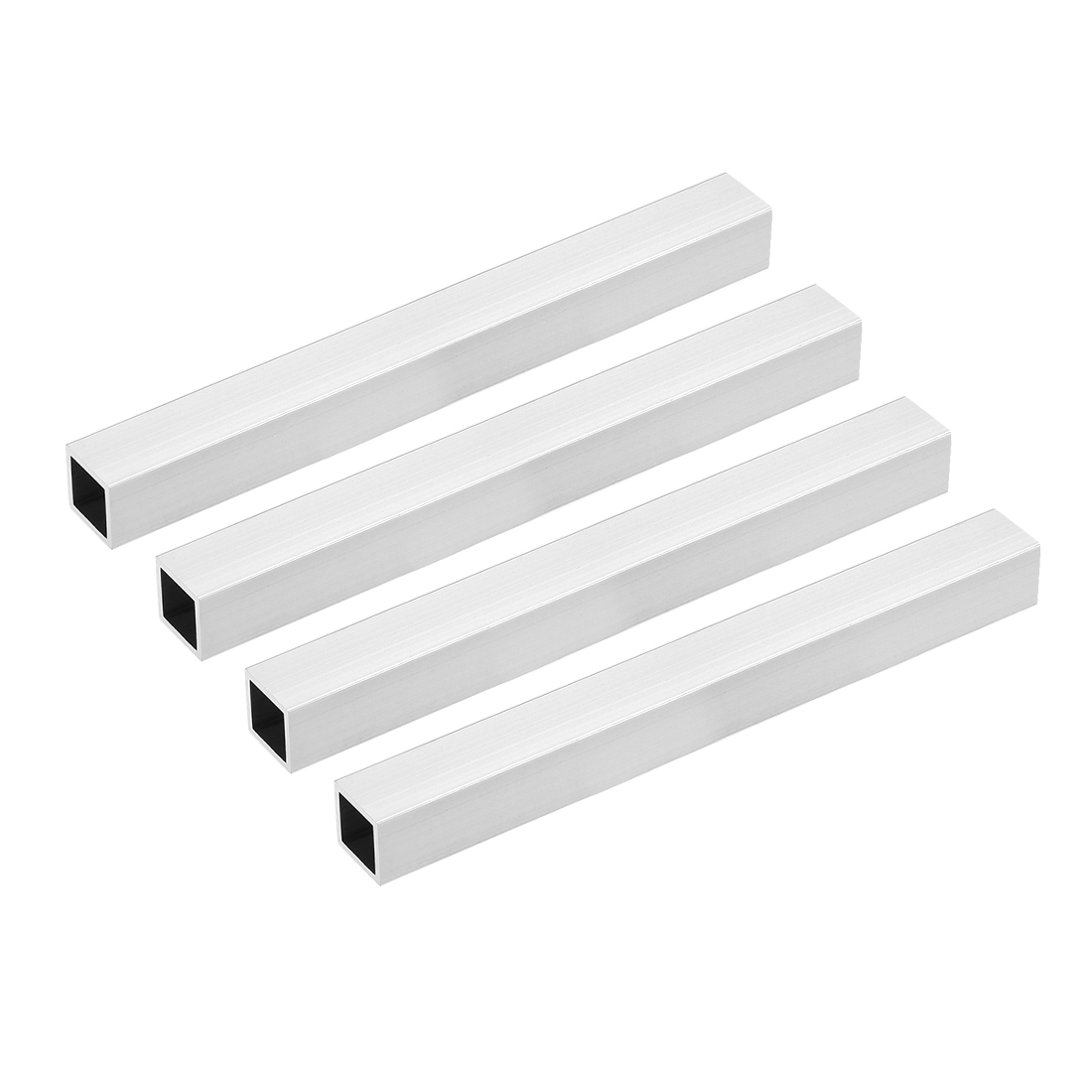 6063 Aluminum Square Tube 20mmx20mmx1.5mm Wall Thickness 200mm Long Tubing 4 Pcs