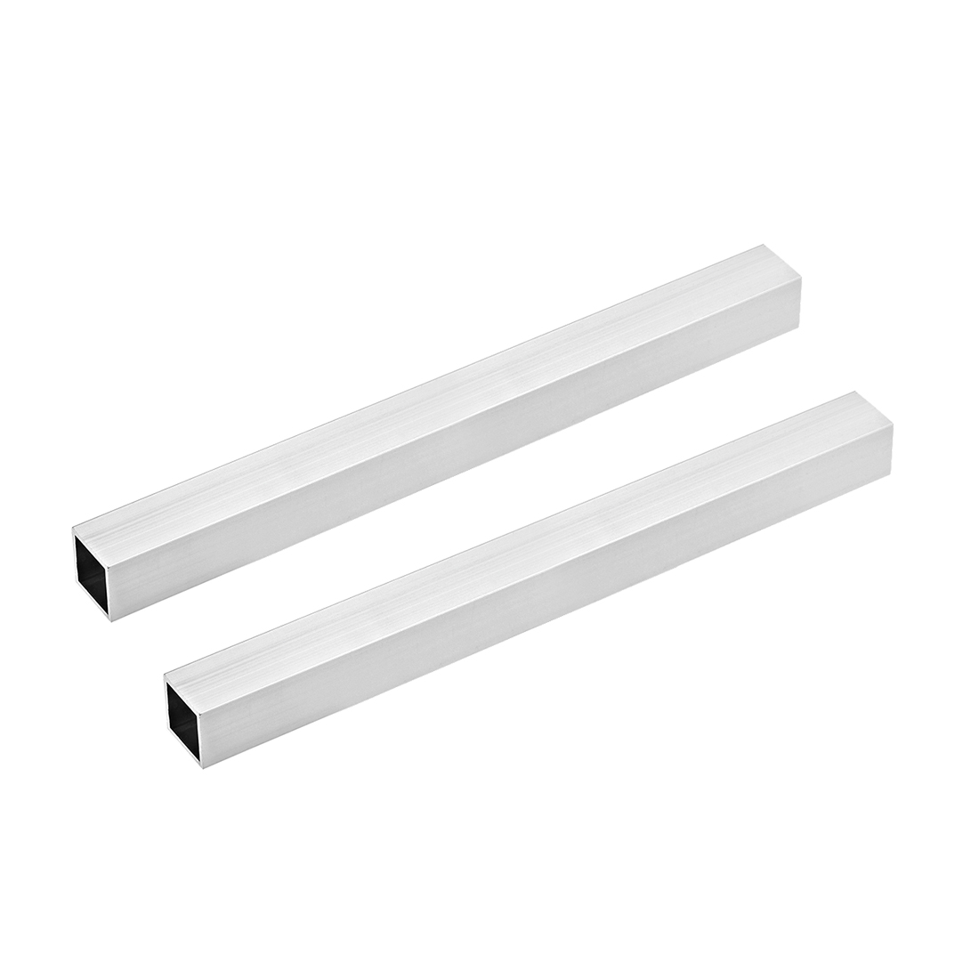 6063 Aluminum Square Tube 25mmx25mmx1.2mm Wall Thickness 300mm Long Tubing 2 Pcs