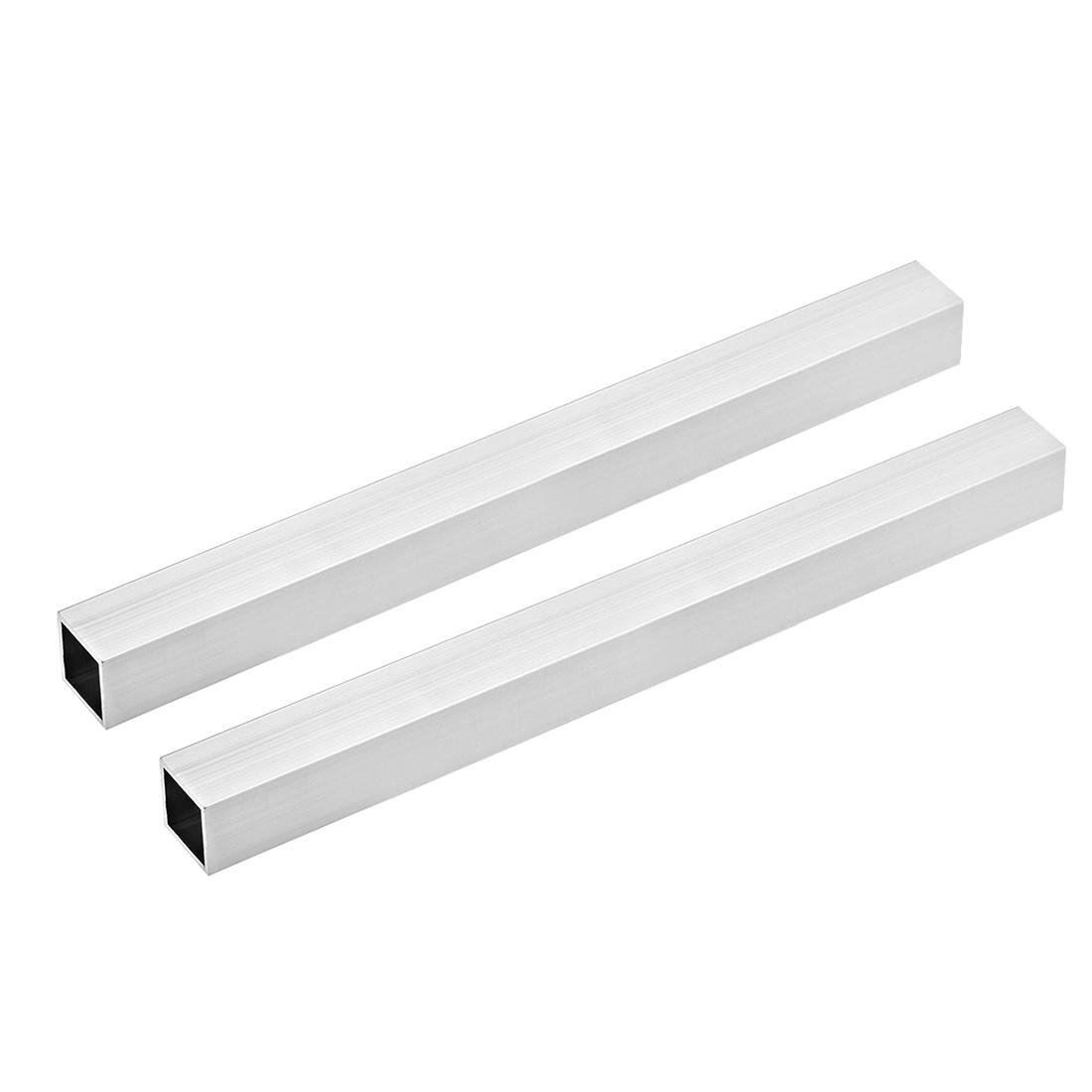 6063 Aluminum Square Tube 25mmx25mmx1.5mm Wall Thickness 300mm Long Tubing 2 Pcs