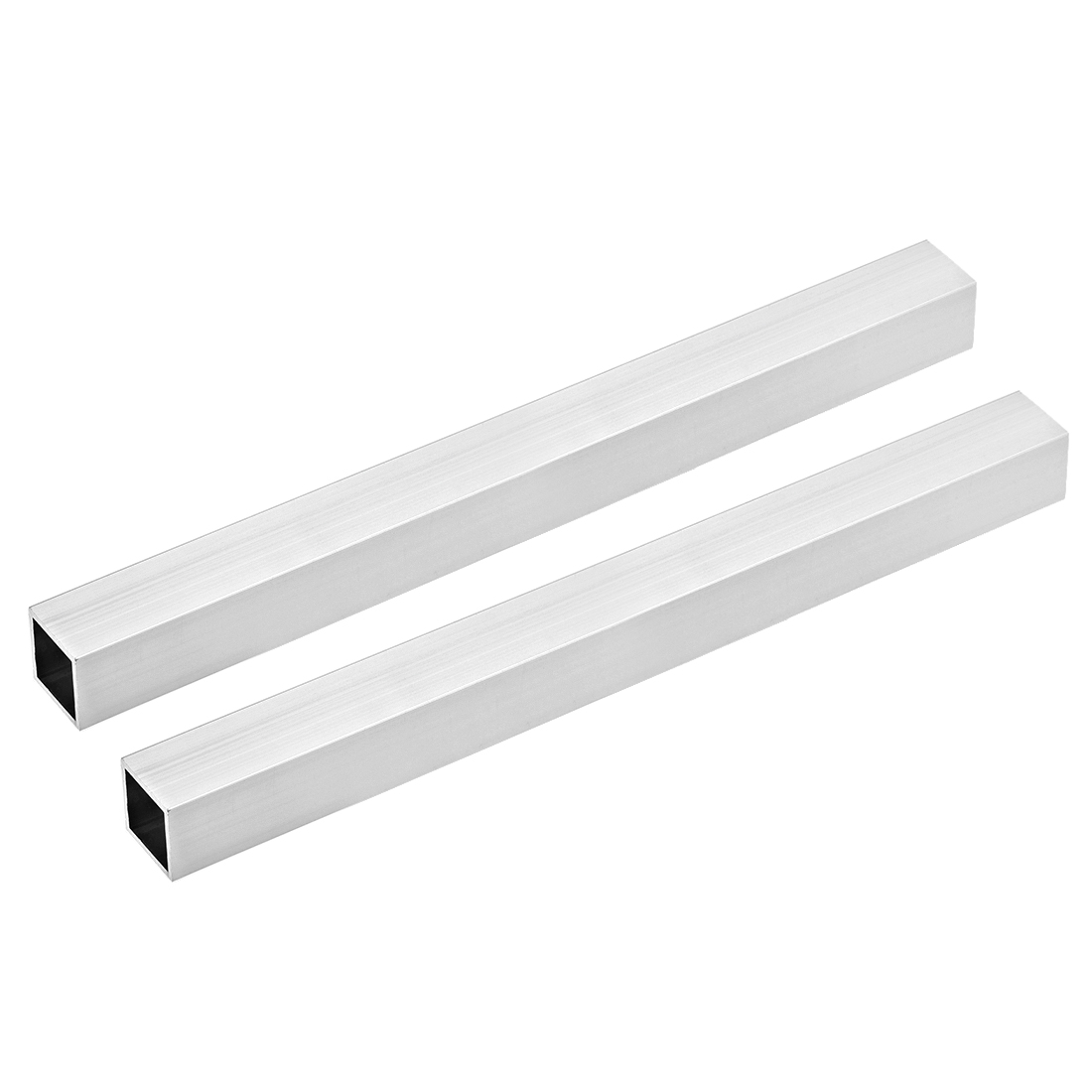 6063 Aluminum Square Tube 25mmx25mmx2mm Wall Thickness 300mm Length Tubing 2 Pcs