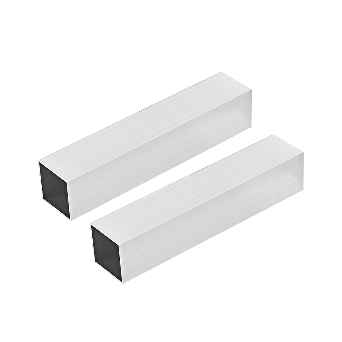 6063 Aluminum Square Tube 40mmx40mmx1mm Wall Thickness 200mm Length Tubing 2 Pcs