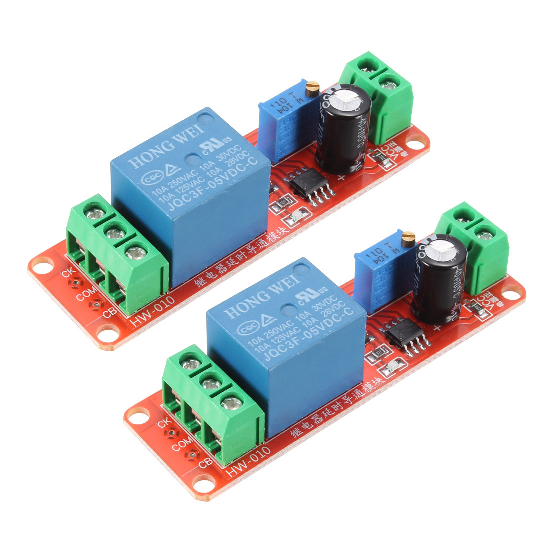 DC5V NE555 Module Delay Timer Switch Adjustable Module for 0-10s 2pcs