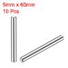 10Pcs 5mm x 60mm Dowel Pin 304 Stainless Steel Shelf Support Pin Fasten
