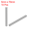 10Pcs 5mm x 70mm Dowel Pin 304 Stainless Steel Shelf Support Pin Fasten