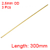 Brass Round Tube 300mm Length 2.5mm OD 0.5mm Wall Thickness Seamless Tubing 3pcs