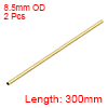 Brass Round Tube 300mm Length 8.5mm OD 0.5mm Wall Thickness Seamless Tubing 2pcs
