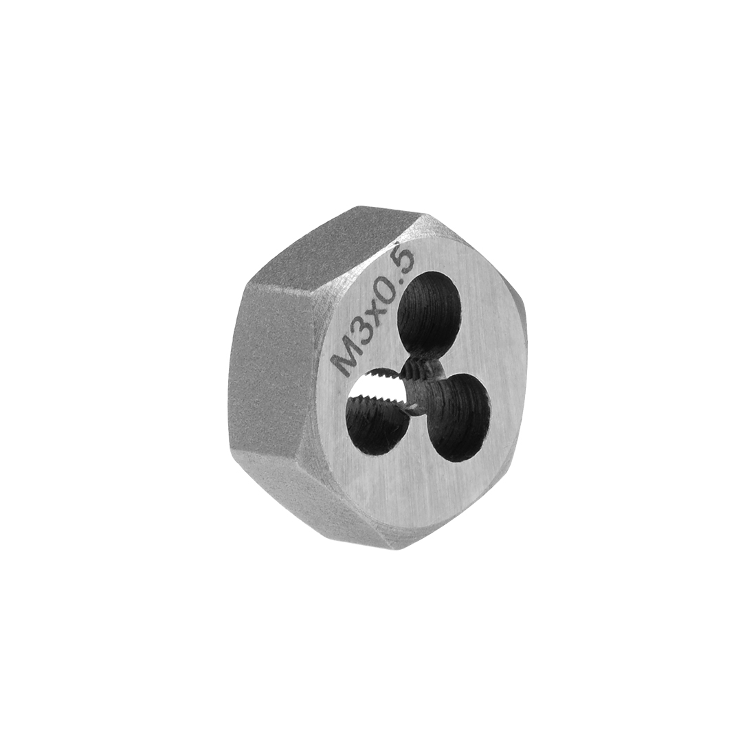 M3 x 0.5 Pitch Carbon Steel Metric Hexagon Taper Pipe Hex Rethreading Die