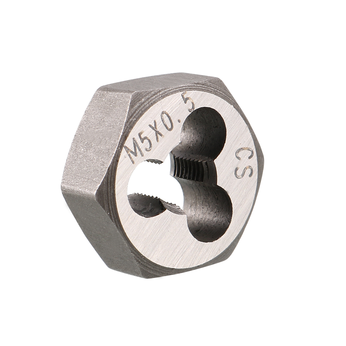 M5 x 0.5 Pitch Carbon Steel Metric Hexagon Taper Pipe Hex Rethreading Die