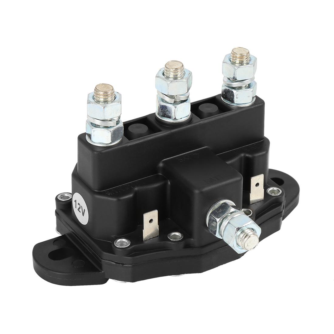 Universal Winch Solenoid Relay Replacement 12V Winch Motor for ATV UTV