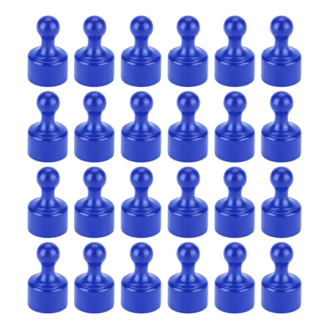 24 Pcs Memo Push Pin Magnets Fridge Kitchen Office Bulletin Boards Blue