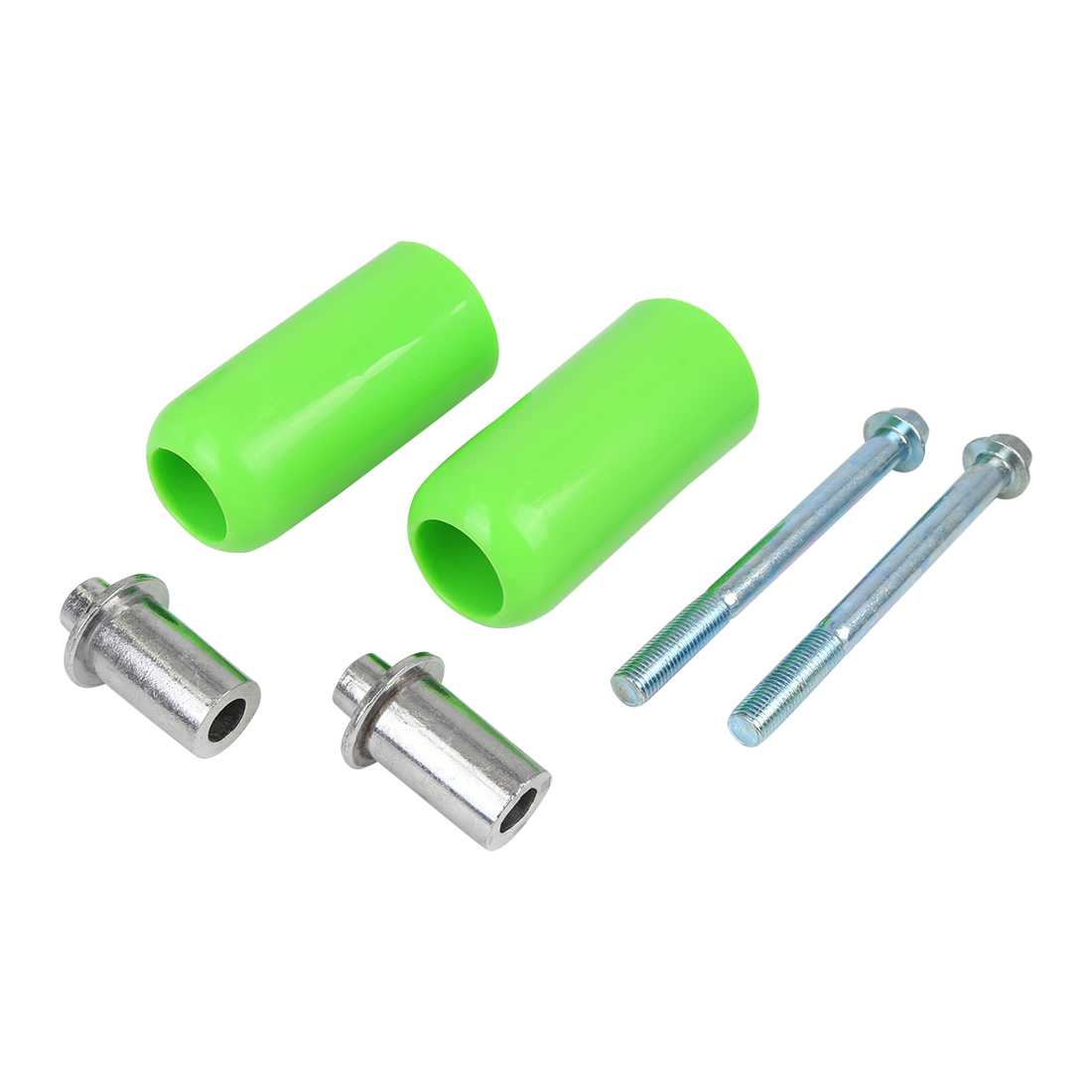 Pair 10mm Motorcycle Frame Sliders Universal Extended Anti Crash Protector Green