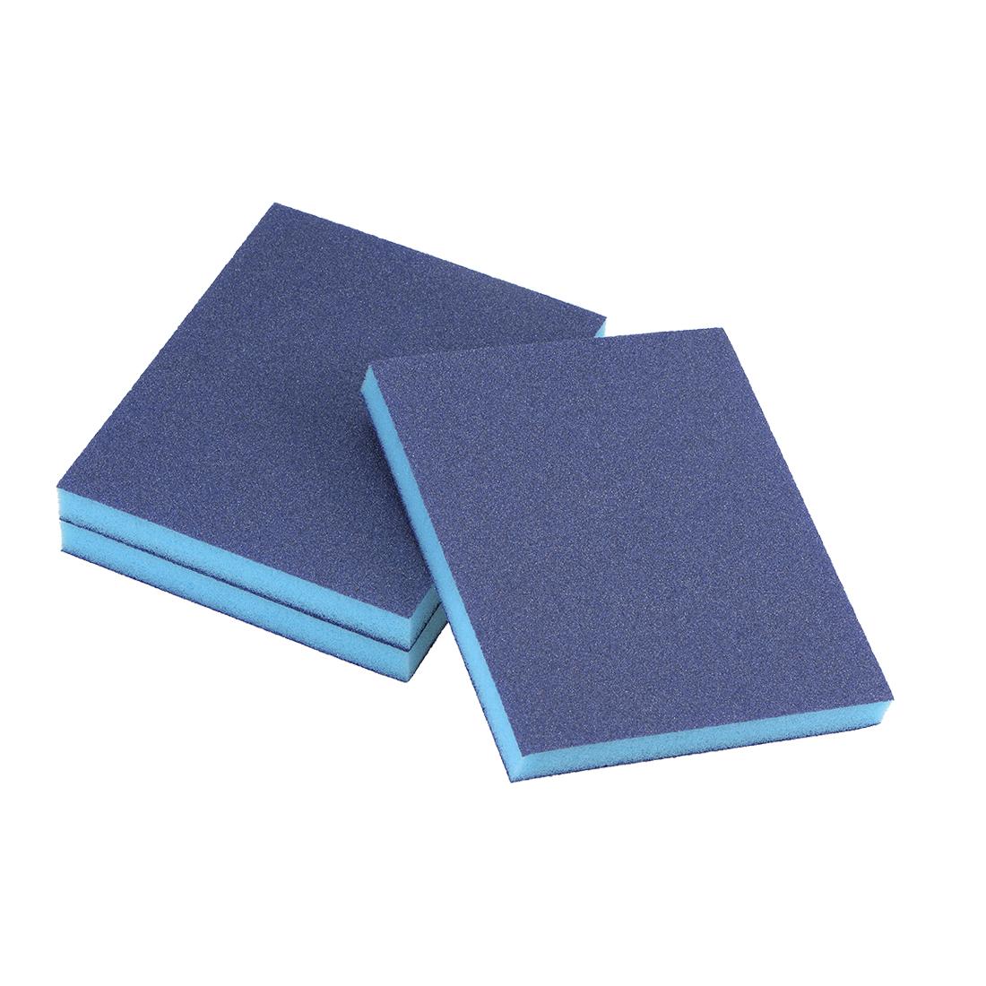Sanding Sponge 120 Grit Sanding Block Pad Blue 3pcs