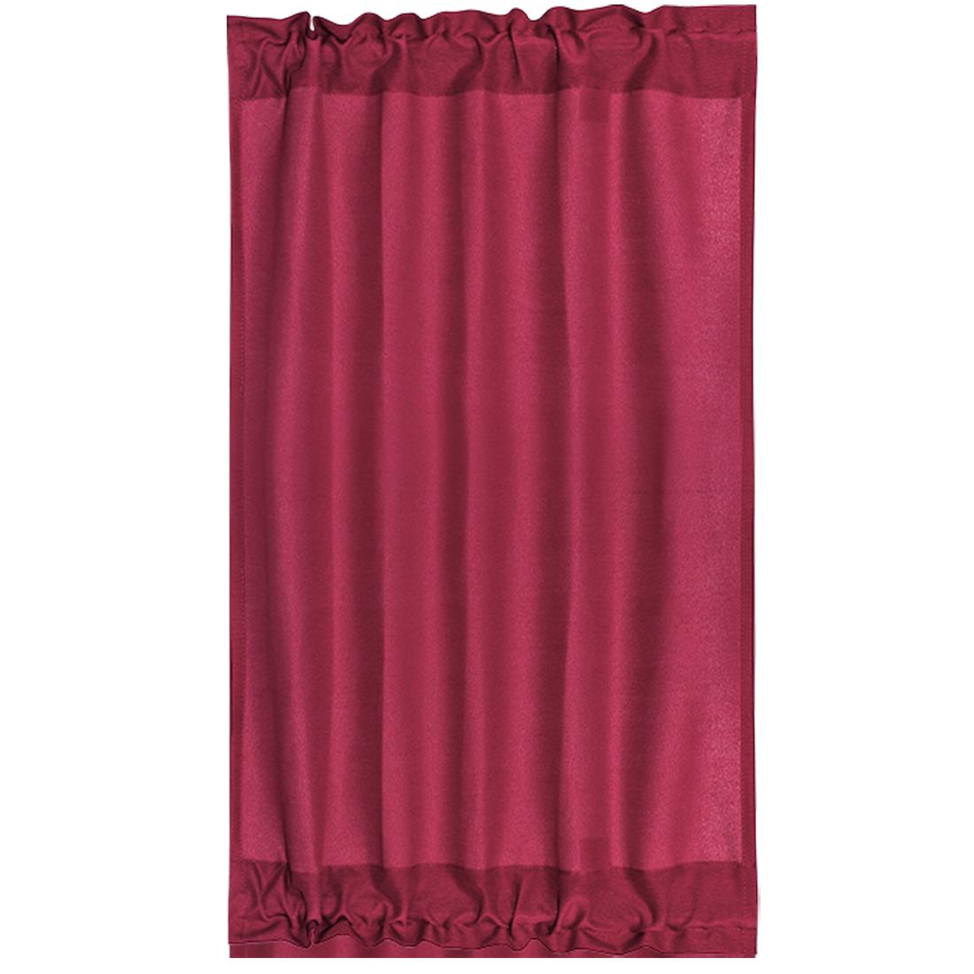 Elegant 25 x 40 Inch Blackout Curtains Rod Sliding Door Drapes Burgundy