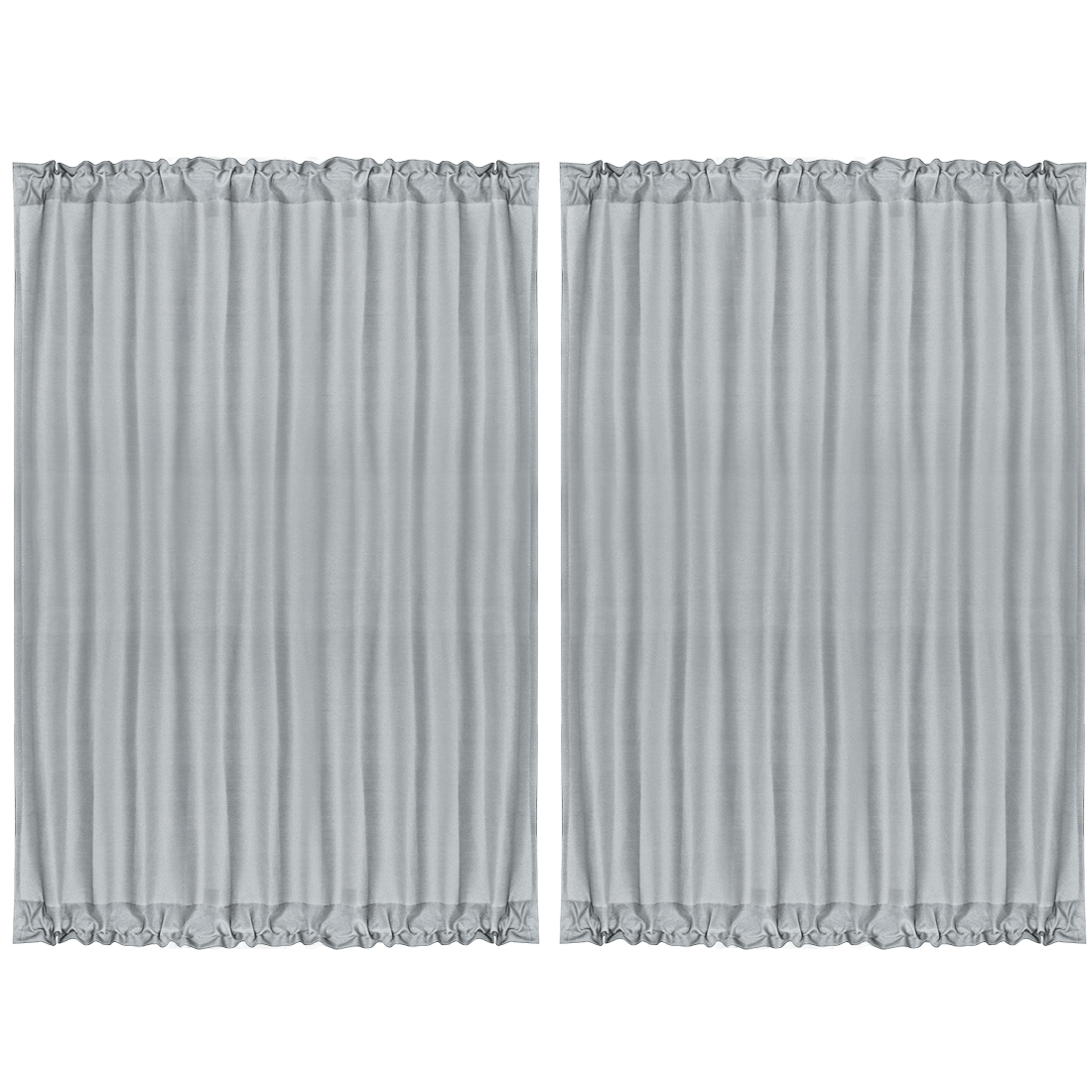 "2pcs Blackout Curtains Sliding Door Panel Darkening Drape Gray 54"" x 72"""