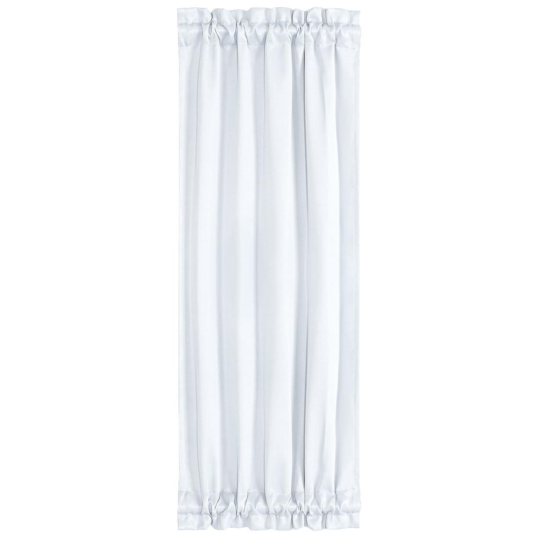 Elegant 25 x 72 Inch Blackout Curtains Rod Sliding Door Drapes Greyish White