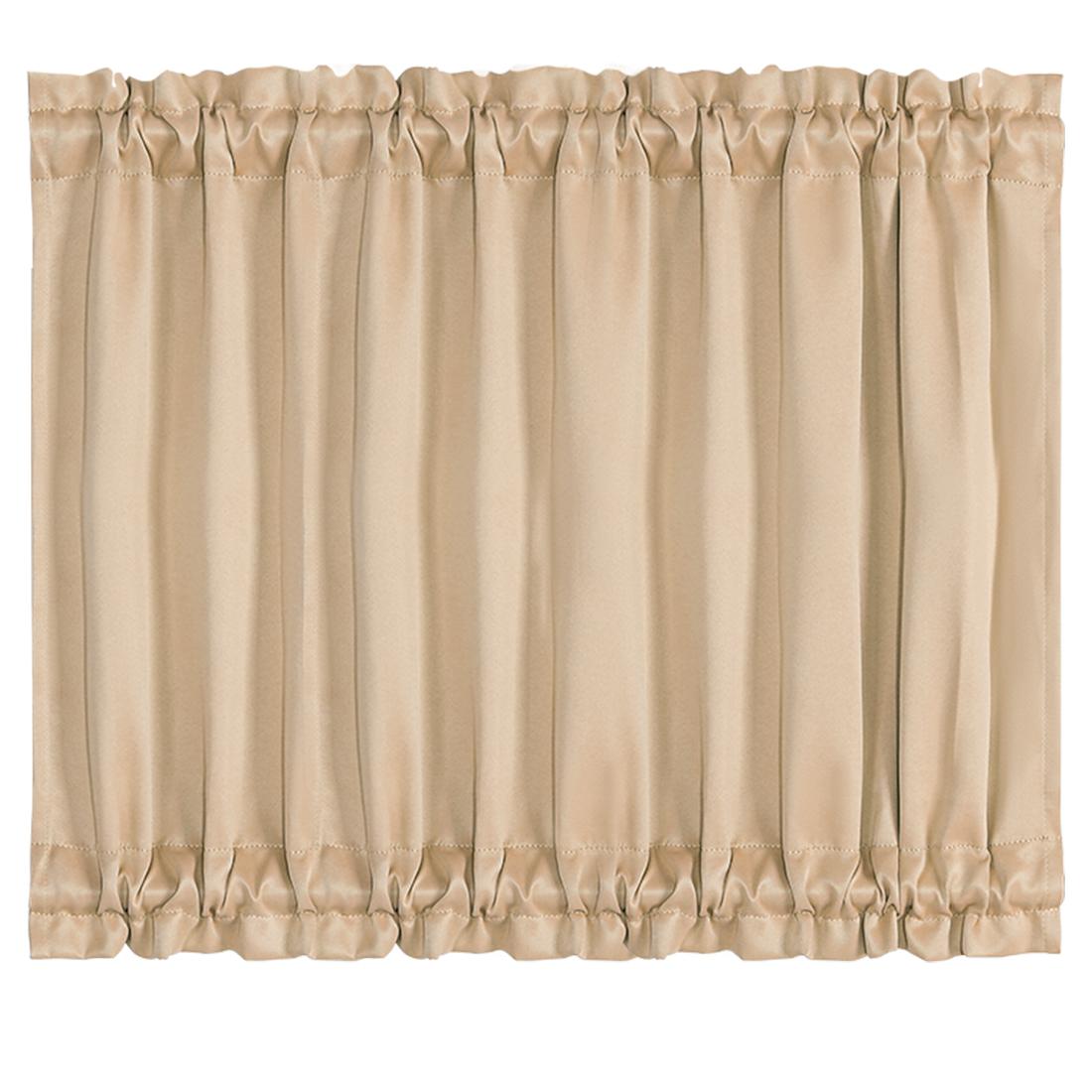 Elegant 54 x 40 Inch Blackout Curtains Rod Sliding Door Darkening Drapes Khaki