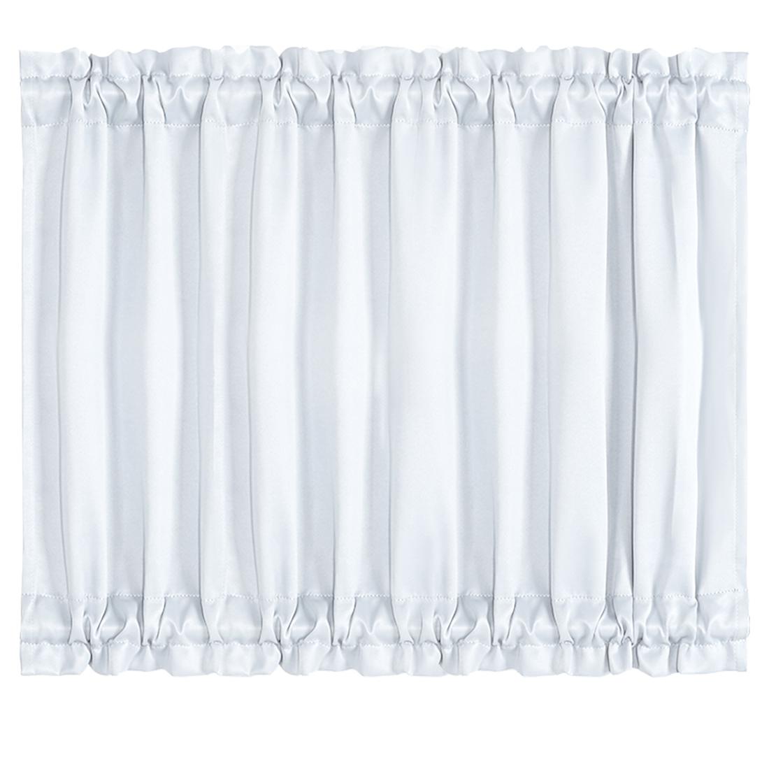 Elegant 54 x 40 Inch Blackout Curtains Rod Sliding Door Drapes Greyish White