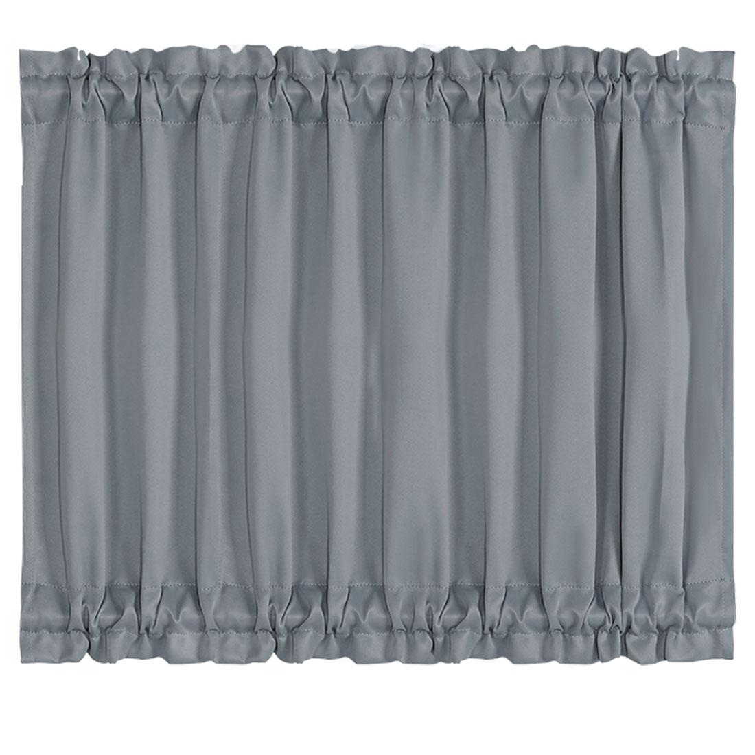Elegant 54 x 40 Inch Blackout Curtains Rod Sliding Door Drapes Dark Gray