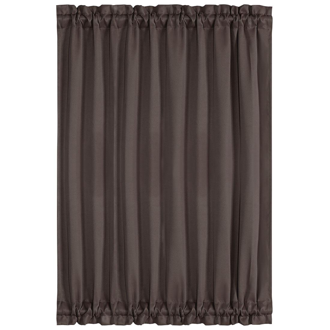 Elegant 54 x 72 Inch Blackout Curtains Rod Sliding Door Drapes Coffee Color