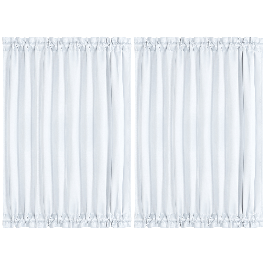 "2pcs Blackout Curtain Sliding Door Panel Darkening Drape Greyish White 54"" x 72"""