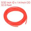 PE Plastic Tubing 5/32 Inch ID x 1/4 Inch OD 32.8 Feet Length Red