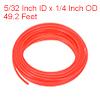 PE Plastic Tubing 5/32 Inch ID x 1/4 Inch OD 49.2 Feet Length Red
