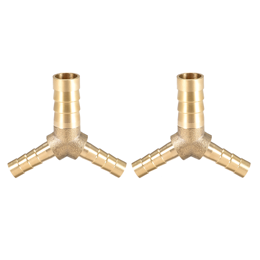 10mm x 6mm x 6mm Hose ID Reducer Barb Fitting Y-Shaped 3 Way Tee Adapter 2pcs