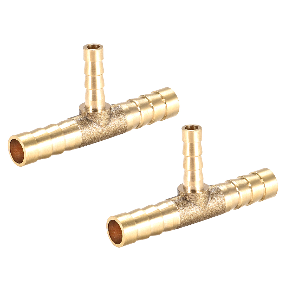 8mm x 5mm x 8mm Brass Hose Reducer Barb Fitting Tee T-Shaped 3 Way Barbed 2pcs