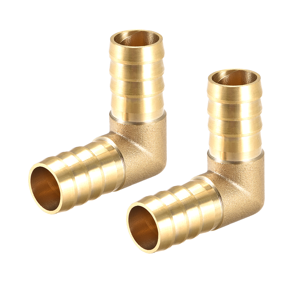16mm Barb Brass Hose Fitting 90 Degree Elbow Pipe Coupler Tubing Adapter 2pcs