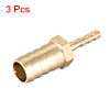 12mm to 4mm Hose ID Brass Reducer Barb Fitting Straight Connector Coupler 3pcs