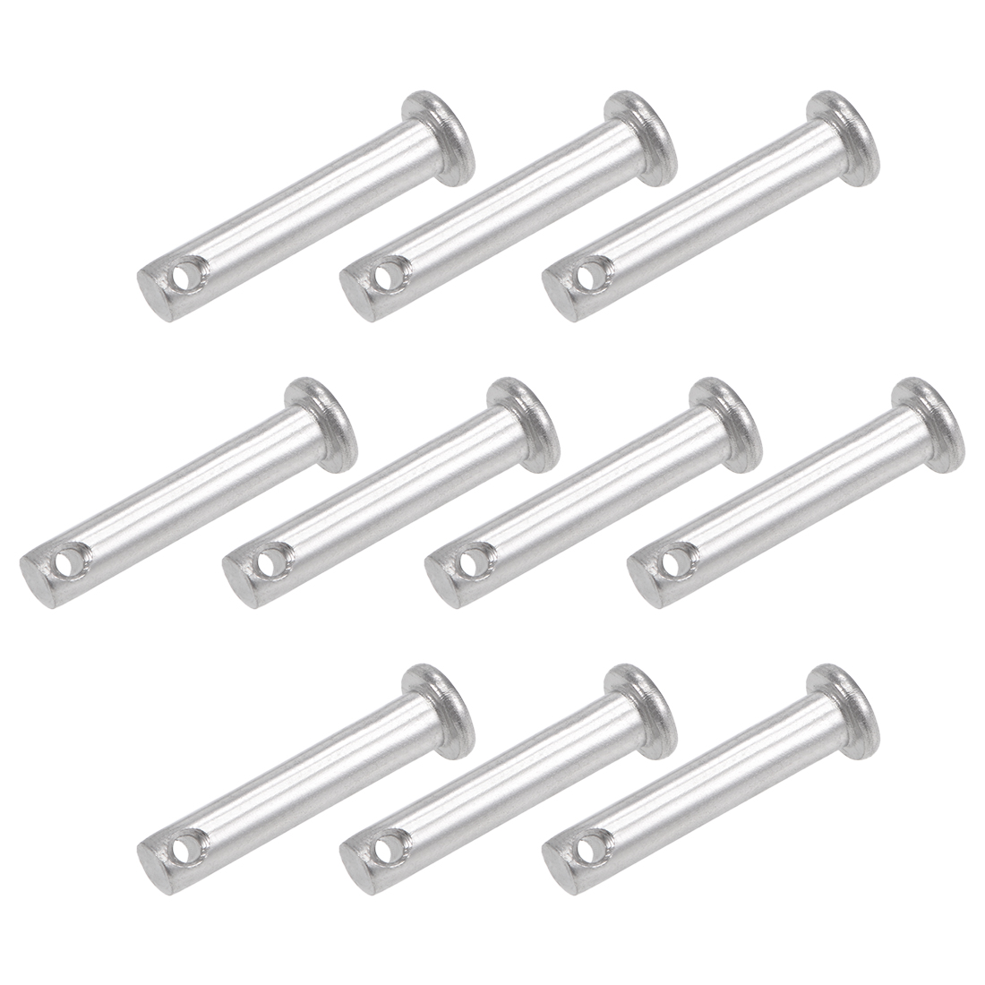 Single Hole Clevis Pins - 5mm x 25mm Flat Head 304 Stainless Steel Pin 10Pcs
