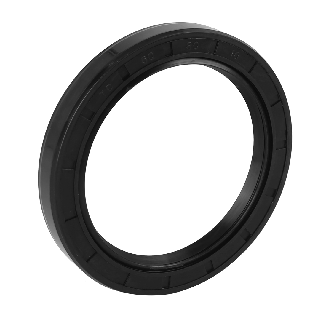 60mm x 80mm x 10mm Black Rubber Cover Double Lip TC Oil Shaft Seal for Car Auto