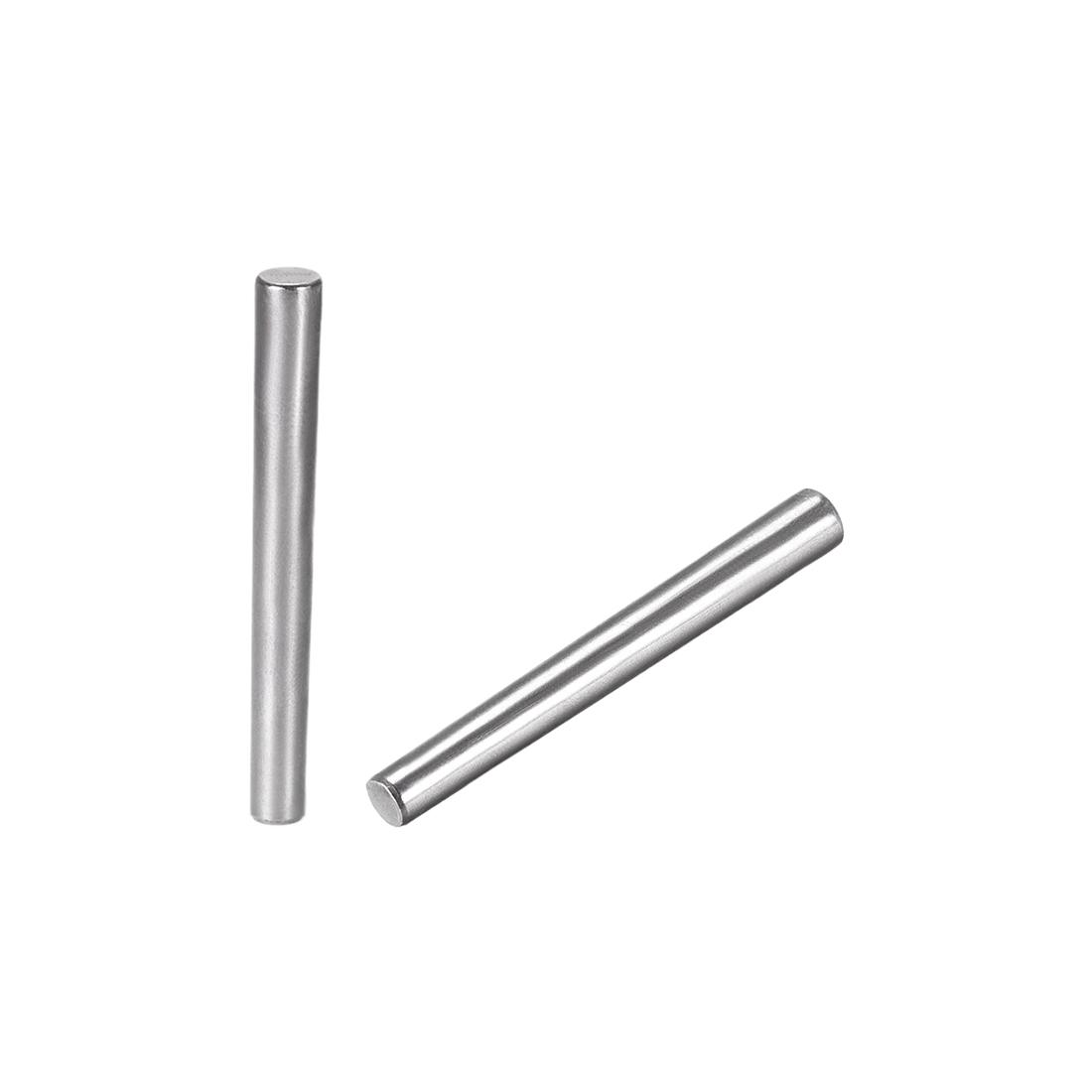 Carbon Steel GB117 50mm Length 5mm x 6mm Small End Diameter 1:50 Taper Pin 20Pcs