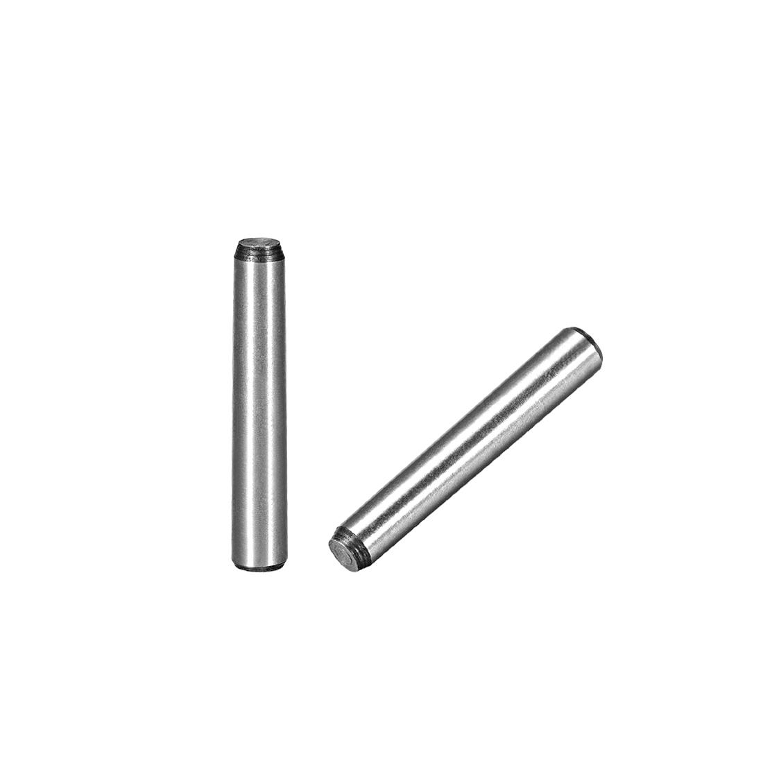 45# Carbon Steel GB117 40mm Length 6mm Small End Diameter 1:50 Taper Pin 5Pcs