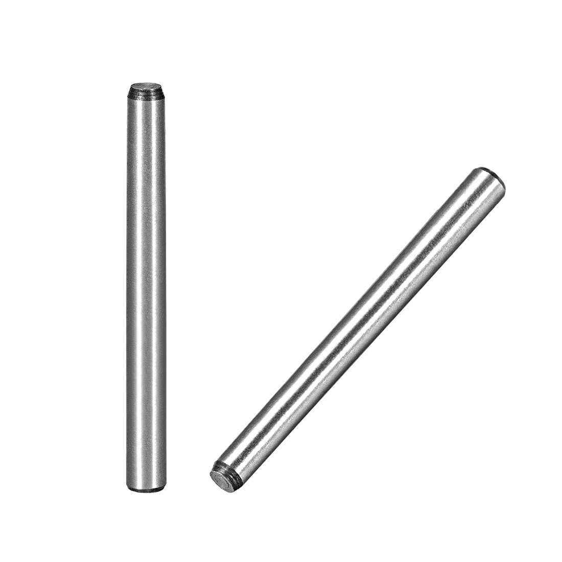 45# Carbon Steel GB117 80mm Length 6mm Small End Diameter 1:50 Taper Pin 5Pcs