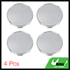 4 Pcs 54mm Dia Silver Tone 6 Clips Wheel Center Tyre Rim Hub Caps Cover for Car