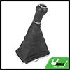 Car 5 Speed Gear Shift Stick Knob Boot Cover Black for VW Golf Bora Jetta