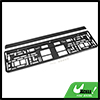 Black Plastic Car License Number Plate Frame Mount Holder Tag Cover Universal