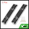 2pcs Universal Car License Number Plate Frame Mount Holder Tag Stainless Steel