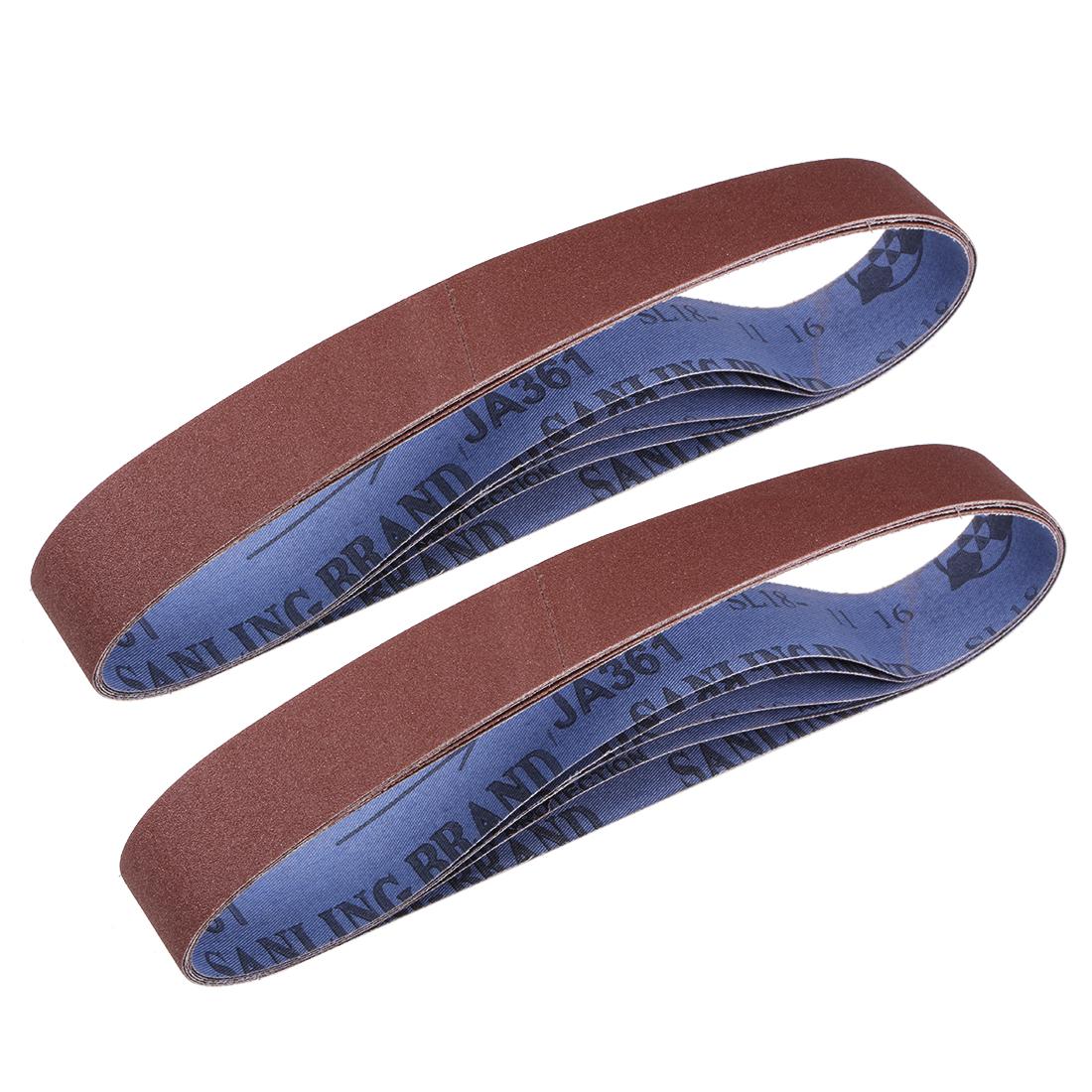 1.2 x 21 Inch Sanding Belts 180 Grit Aluminum Oxide Sand Belts 10pcs